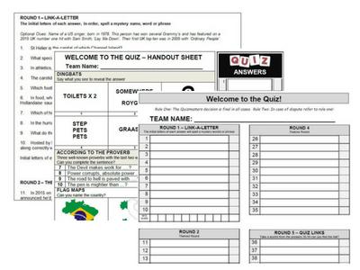 Ready Made Pub Quiz Packs