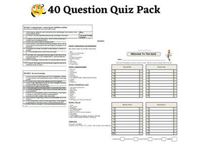 40 Question Pub Quiz