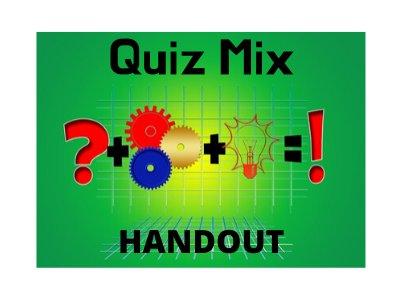 Pub Quiz Handout